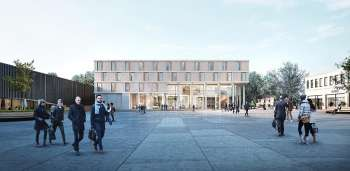 Rendering des neuen Autograph Collection Hotels in Metzingen. Bildrechte: Blocher Partners